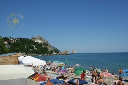 Гурзуф - пляж